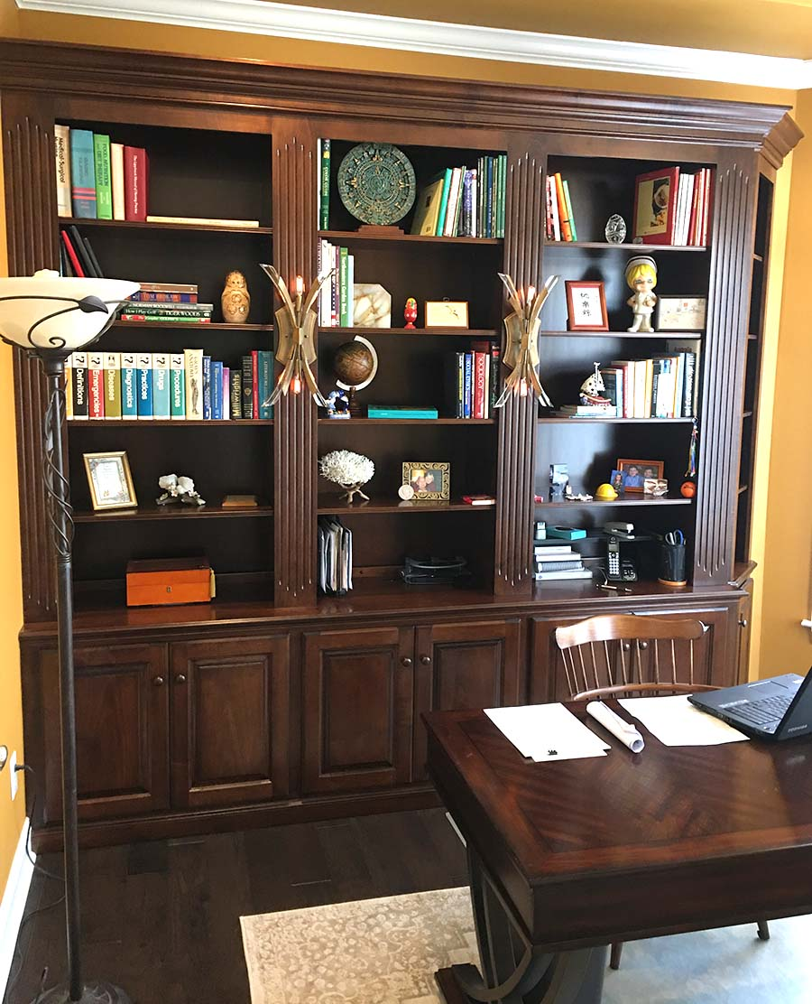Beautiful Built In Bookcases | Custom Bookshelves from T.L ...