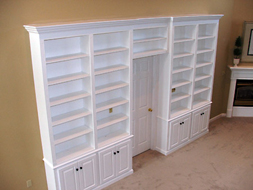 Painted White Bookcase