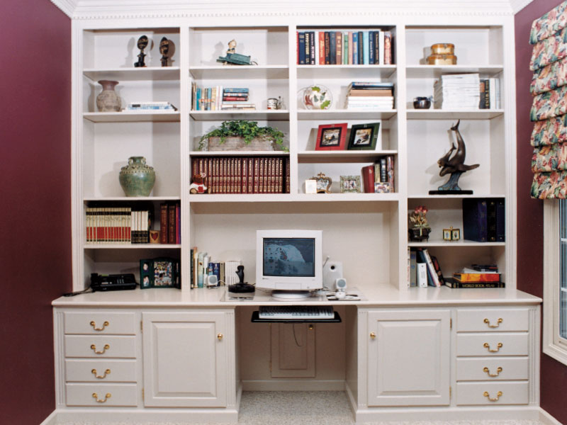 Painted White Home Office