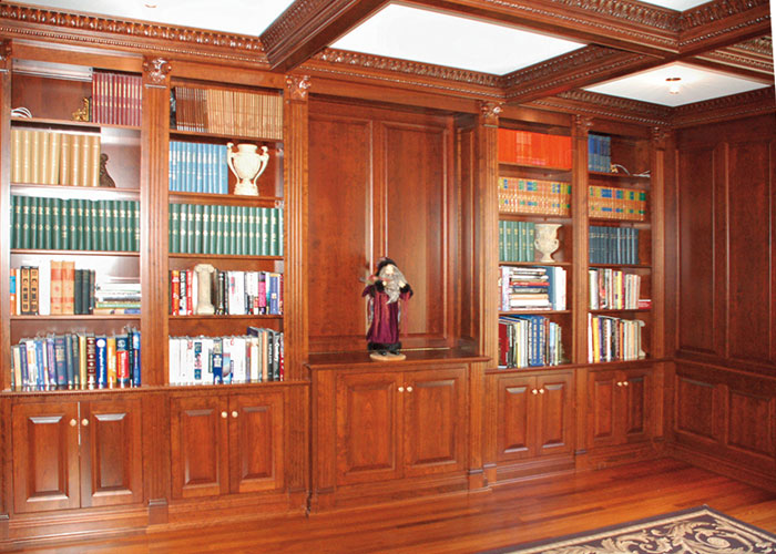 High End Libraries & Wainscoting