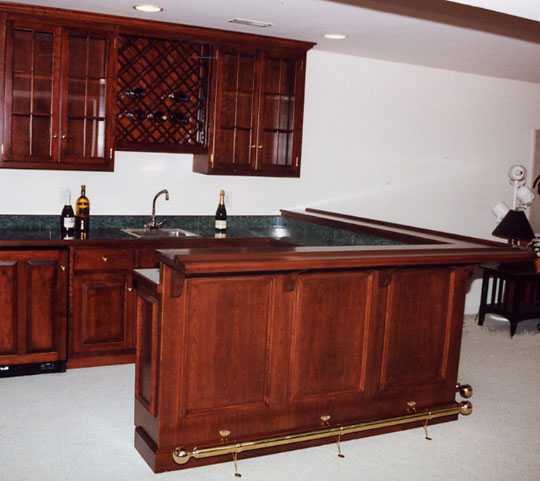 Custom Home Bars Built In Bar Cabinets PA