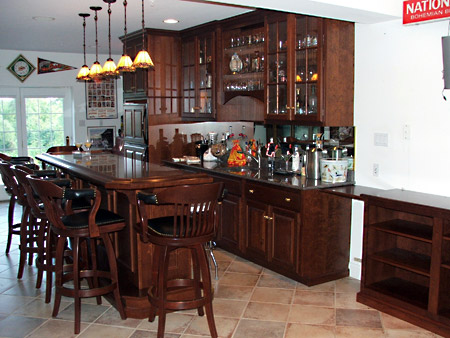 Cherry Bar With Granite Counter Tops
