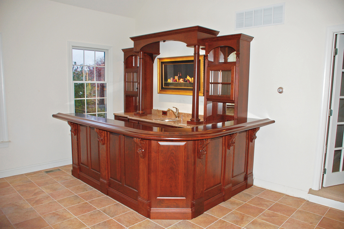 Custom home bars built in bar cabinets pa - Built in bar cabinets ...