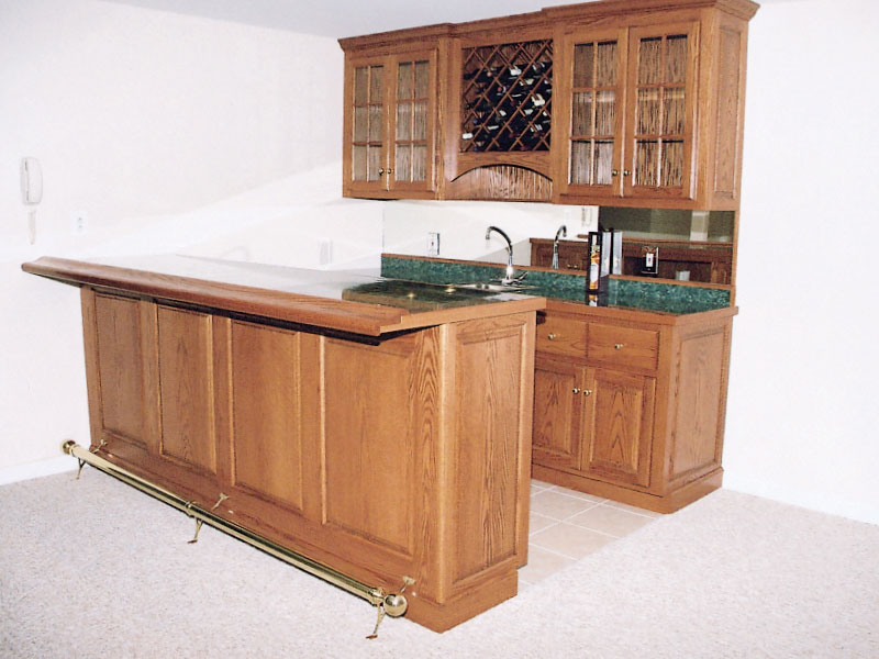 Oak 8' Length Bar with Laminated Counter Top