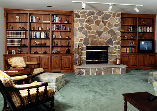 Great Fireplace Wall Unit Pine