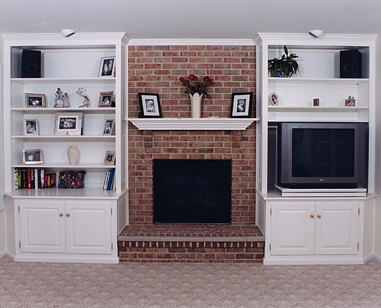 Fireplace Cabinets Built In Wall Units Bookcases Around Fireplaces