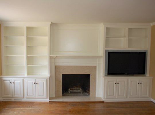 Painted Fireplace Unit