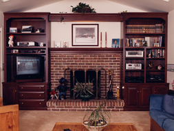 Fireplace Wall Unit Cherry Wood