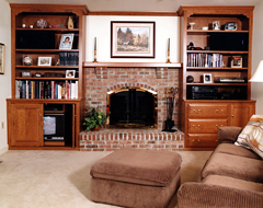 Fireplace Unit Cherry Wood