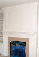 After - Painted Fireplace Unit