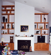 Maple Fireplace Unit