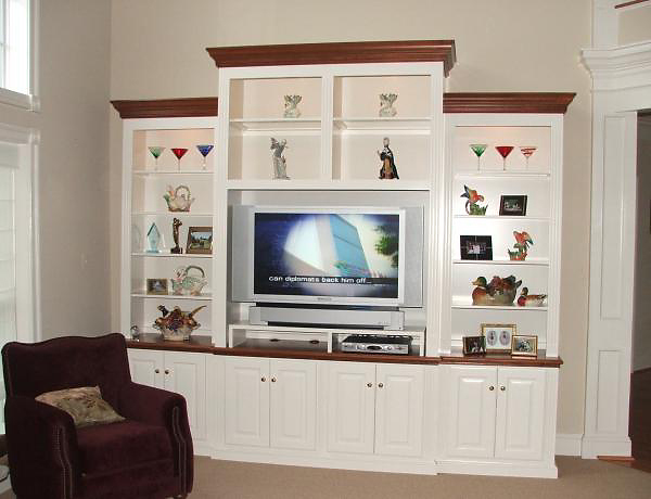 White Painted Entertainment Center