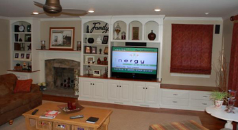 TV Cabinet Painted White/Stain Maple