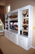 Painted White TV Cabinet