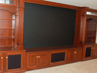 Cherry TV Cabinet Projection from the Ceiling
