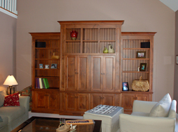 Knotty Pine TV Cabinet with Bi-Fold Doors