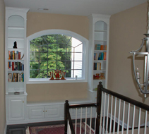 Painted Window Unit for Stair Landing